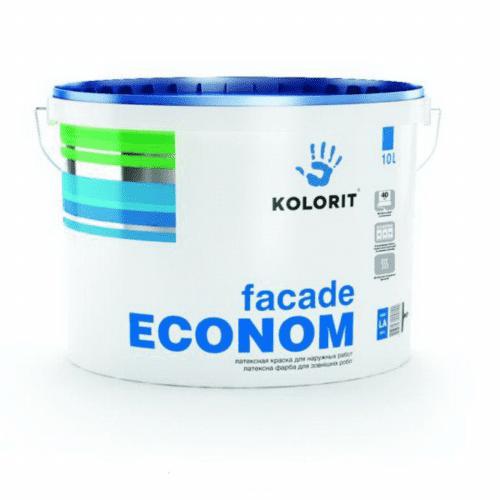 Фарба для фасаду Колорит Економ 10 л