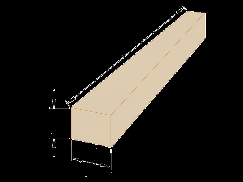 Брус деревянный 200×200 - 5 метров