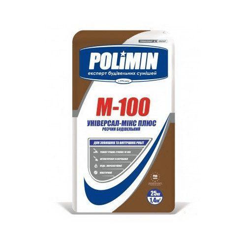 Строительный раствор М-100 25 кг Полимин