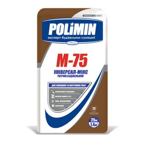 Строительный раствор Полимин М-75 25 кг