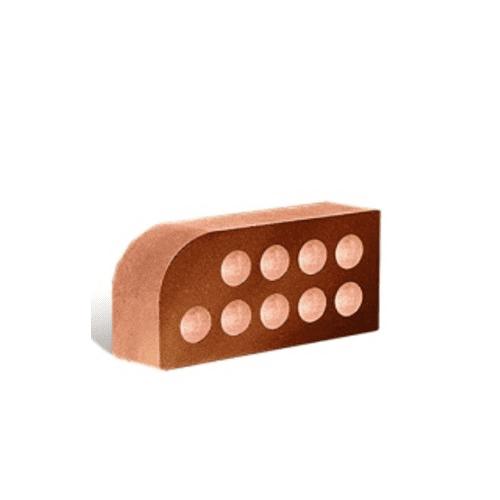 Лицьова фасонна пустотіла Мале Півколо 250х120х65 (Літос)