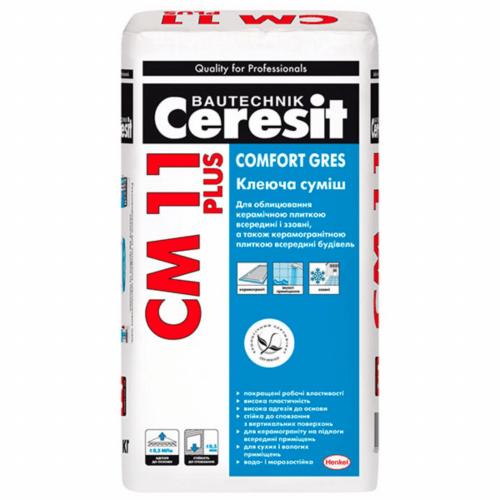 Клей для плитки Ceresit СМ-11 Plus Comfort Gres 25 кг