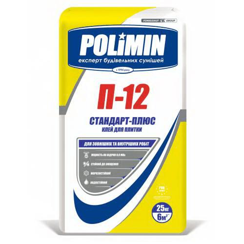 Клей для плитки Полімін П-12 25 кг