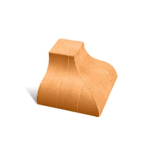 """Лицевой угловой элемент """"Карниз"""" наружный 190х190х120 (Литос)"""