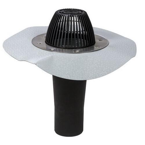 Водостічна воронка AM фланець Протан світло-сірий