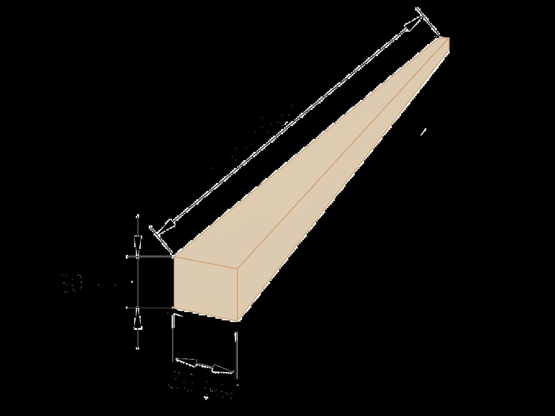 Рейка обрезная 30×30 - 6 метров