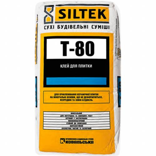 Клей для плитки Siltek T-80 25кг