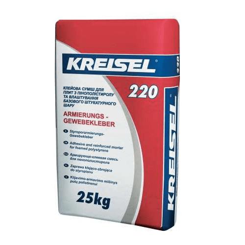 Клей для пенопласта Kreisel 220 Styrlep 25 кг
