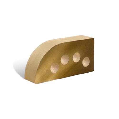 Лицьова фасона пустотіла Півколо 250х120х65 (Літос)