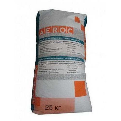 Штукатурка фасадная для газобетона Аэрок (20 кг)
