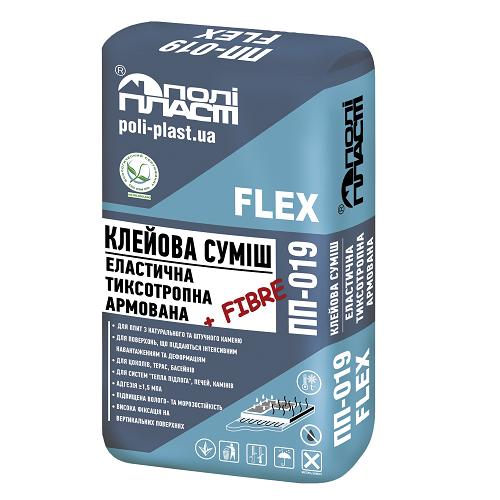 Клейова суміш еластична тиксотропна армована фіброволокном ПП-019