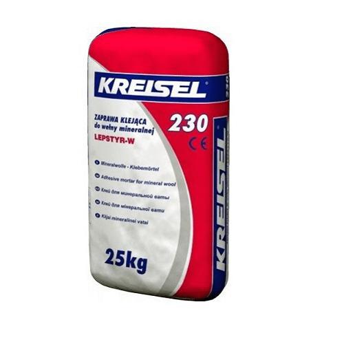 Клей для мінеральної вати Kreisel 230 Klebemortel 25 кг