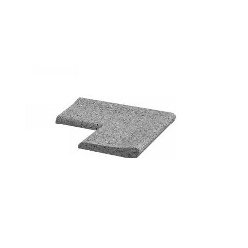 Камень для бассейна  угловой 400х400х60 мм