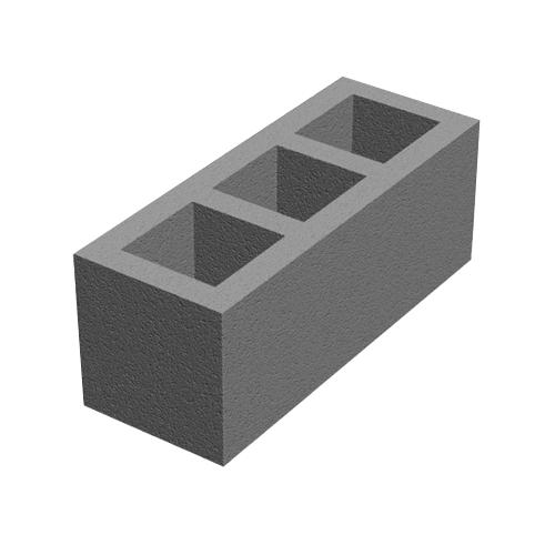 Бетонный блок 660×250×250