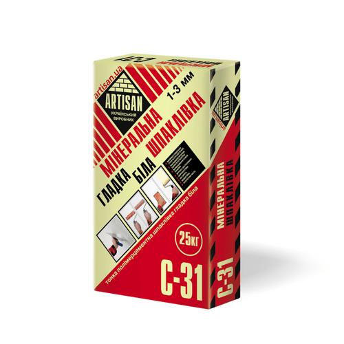 Шпаклівка мінеральна Artisan С-31 25кг