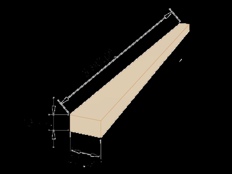 Рейка обрізна 40×50 - 3 метри