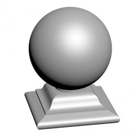 Бетонный шар на подставке 360х450 мм