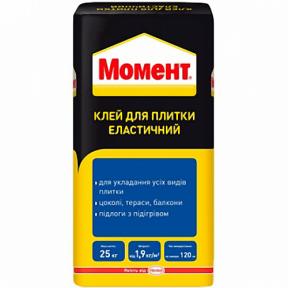 Клей для плитки Ceresit Момент Эласт 25 кг