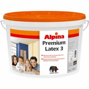 Краска матовая Alpina Premiumlatex 3 E. L. F B1 10 л