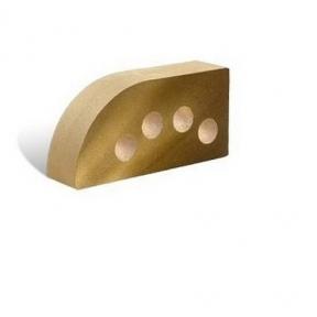 Лицевой фасонный пустотелый Полукруг 250х120х65 (Литос)