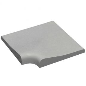 Камінь для басейну кутовий 400х400х60 мм