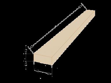 Брус дерев'яний 50×100 - 4 метри