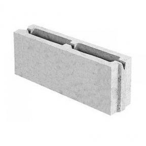 Бетонний блок перегородковий 390×90×188
