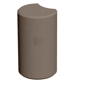 Поребрик столбик фигурный круглый 500х80 мм
