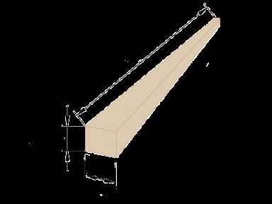 Рейка обрізна 30×30 - 3 метри
