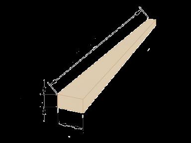 Рейка обрізна 25×50 - 6 метрів