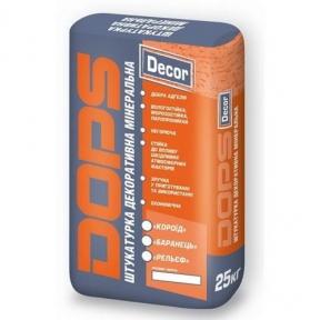 Штукатурка декоративная минеральная Dops Decor (25 кг)