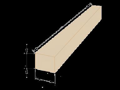 Брус дерев'яний 200×200 - 4 метри