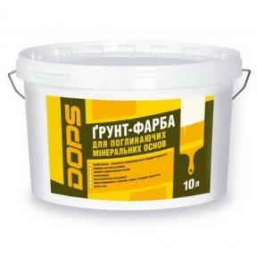Грунт-краска для впитывающих минеральных оснований Dops