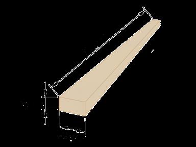 Рейка обрізна 20×40 - 4,5 метрів
