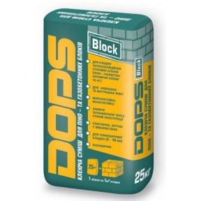 Клеевая смесь для газобетонных блоков Dops (25 кг)